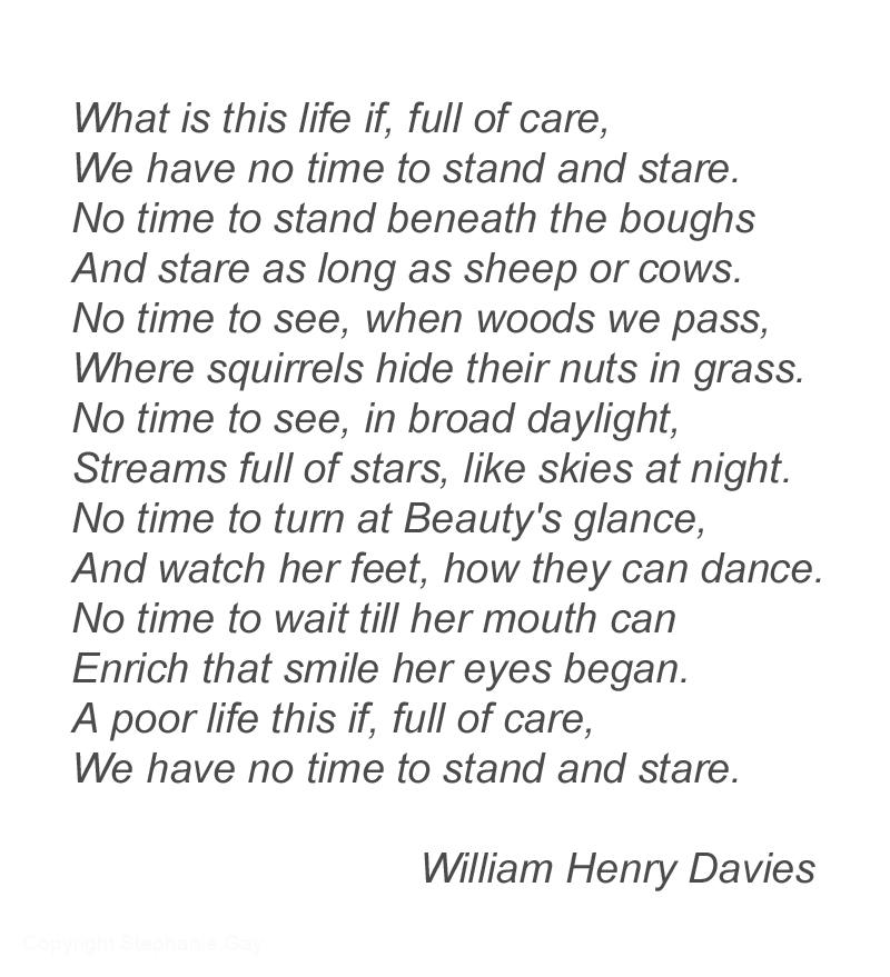 Leisure, William Henry Davies