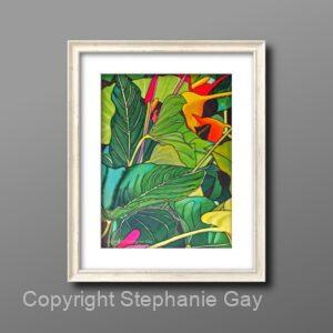 Where to buy Picture Frames? Framed Painting of Tropical Leaves