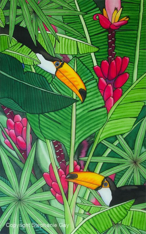 Tony and Tallulah (Toucans) Rendezvous by the Bananas